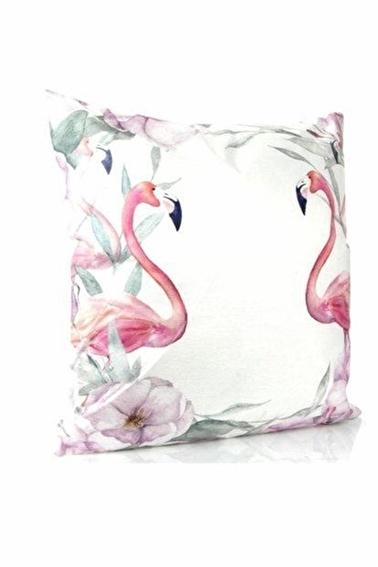 Arma House Dekoratif Flamingo Baskılı Yastık, İçi Elyaf Dolgu Ve Çıkabilen Fermuarlı Kılıf Renkli